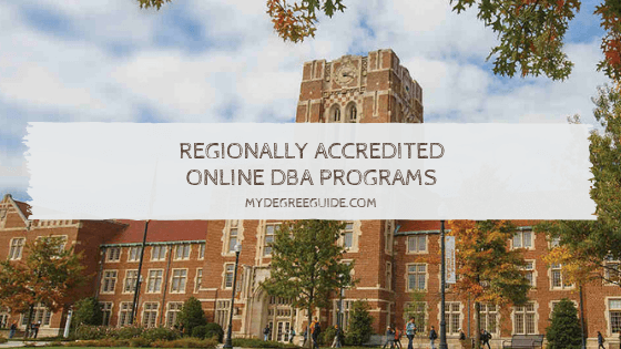 Regionally Accredited Online DBA Programs