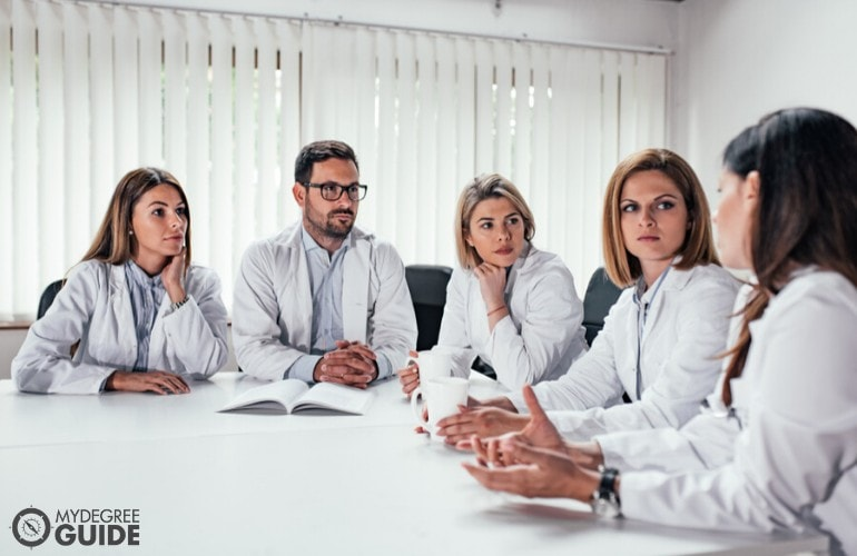 medical health professionals in a meeting