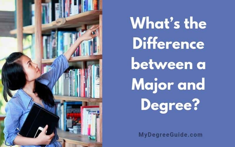 What's the Difference between a Major and Degree?