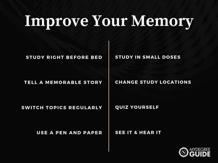 Study to improve memory
