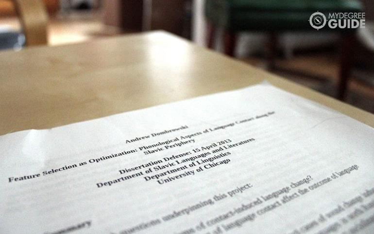 PhD dissertation paper