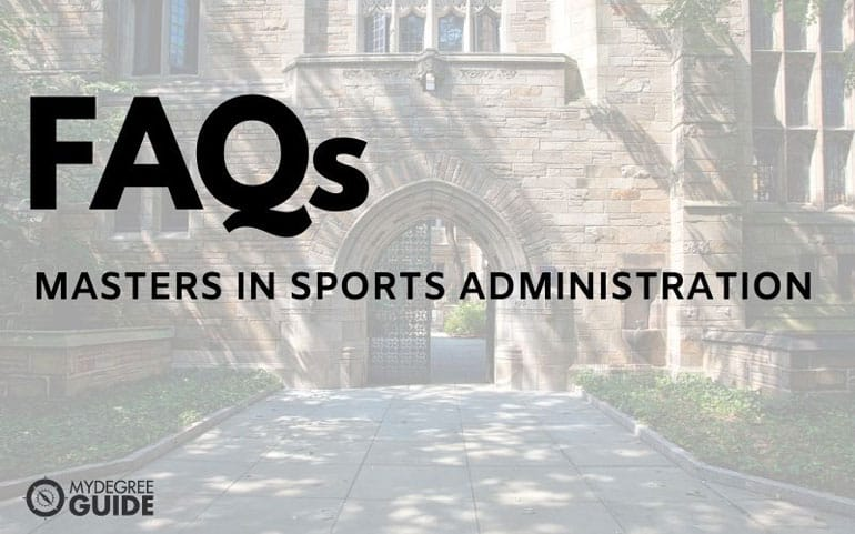 frequently asked questions about an online masters in sports administration