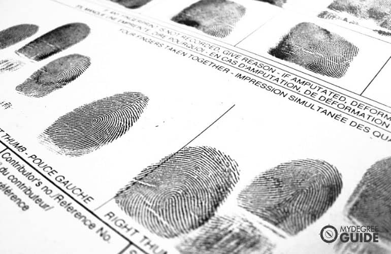 fingerprint image for criminal justice masters students