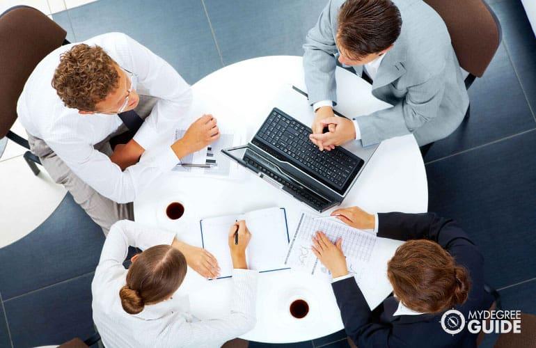 employees doing strategic planning