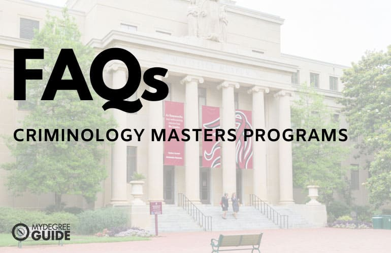 frequently asked questions best criminology masters programs online