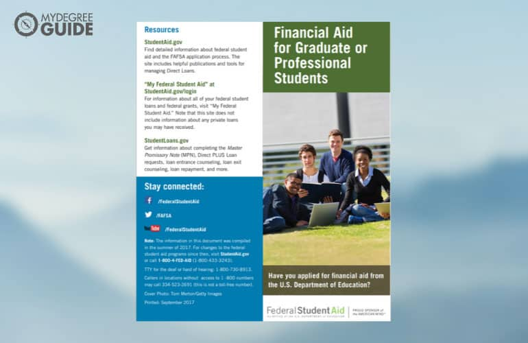 screenshot of federal financial aid pamphlet