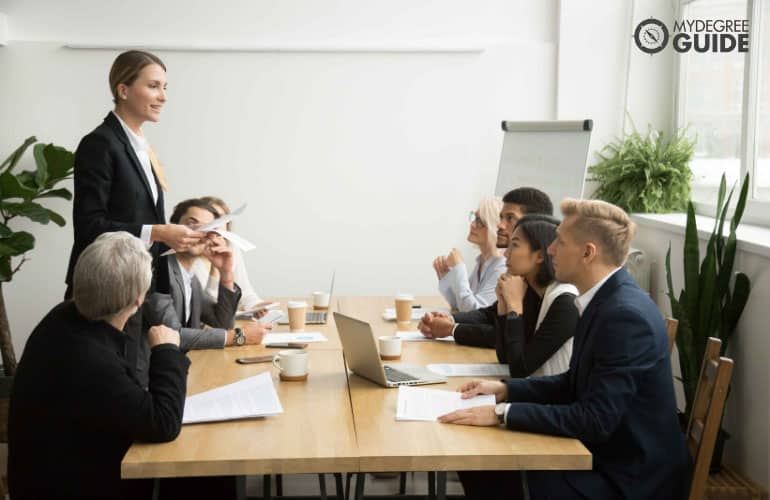 financial management specialists in a meeting