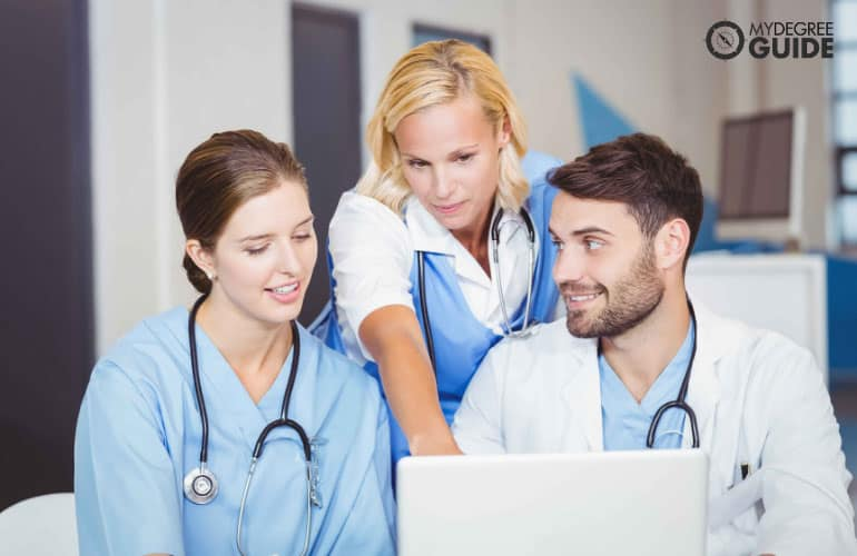 healthcare consultant with doctors