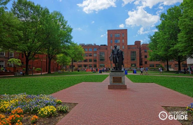 nice-looking university campus