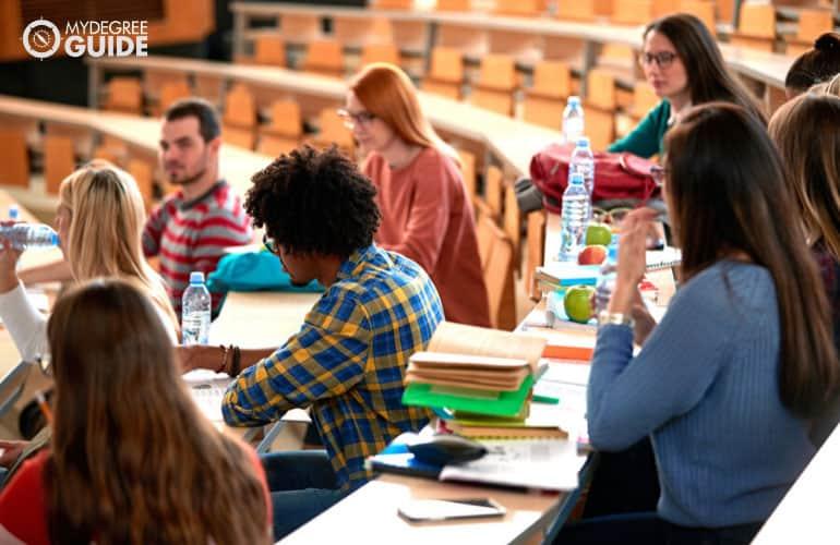 students in university classroom