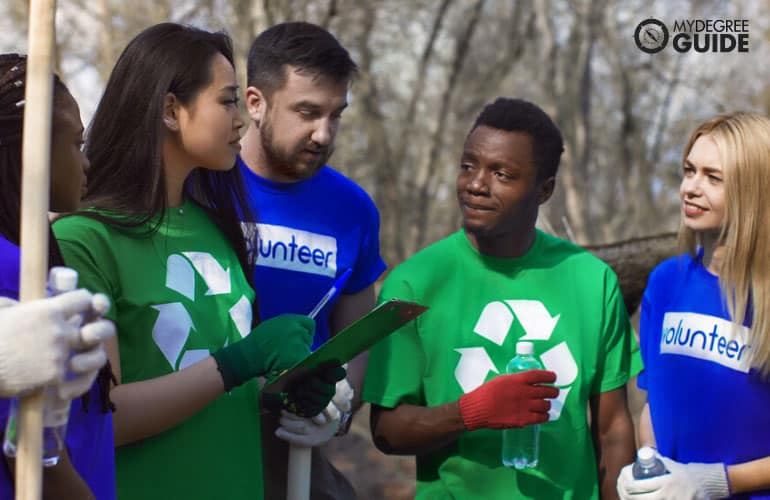 volunteers during a clean up drive
