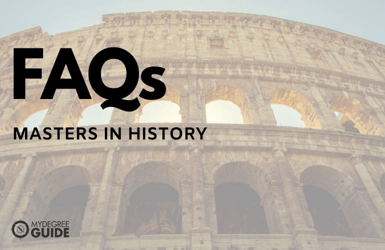 frequently asked questions masters in history