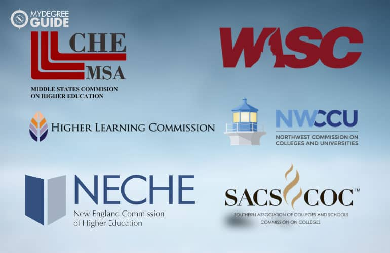 logos of the 6 regional accrediting bodies
