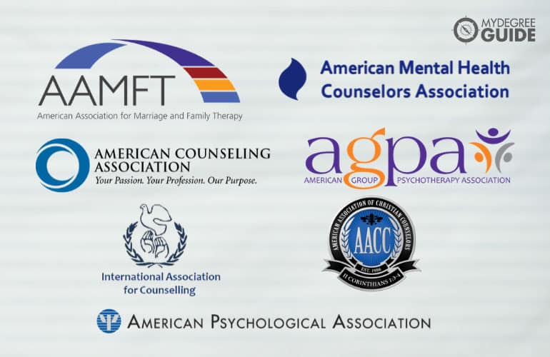 logos of Professional Counseling Organizations