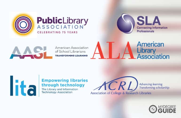 logos of Professional Library Science Organizations