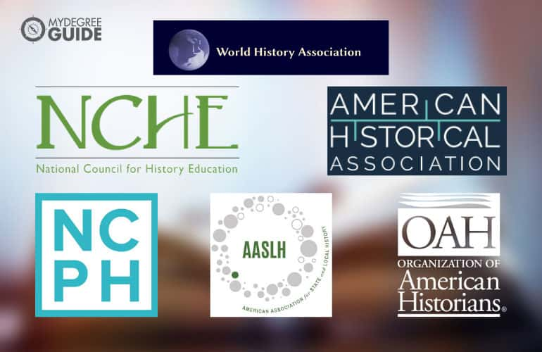 logos of Professional Organizations for Historians