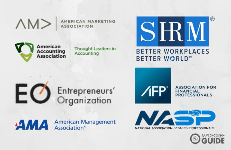 logos of Professional Organizations for MBA Degree Holders