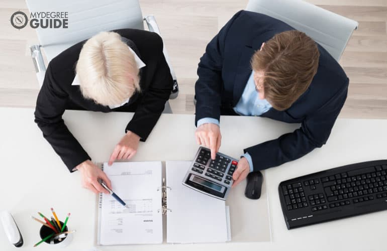 accountants working in the office