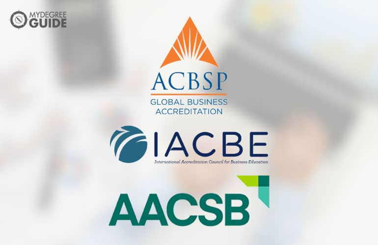 logos of accreditation boards for Online Accounting Associates Degree