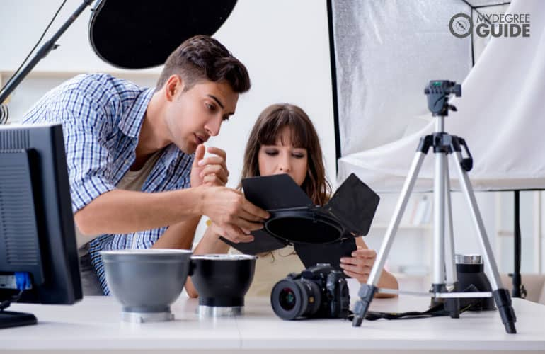 photographers working in a studio