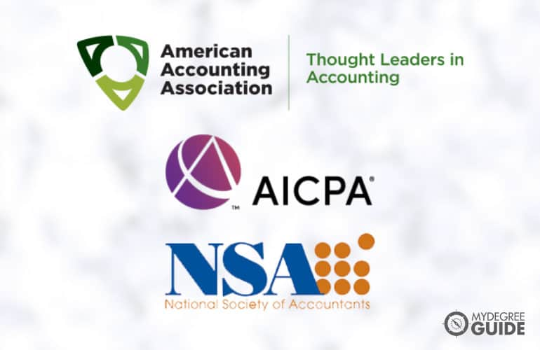 logos of Professional Organizations for those with an Accounting Degree
