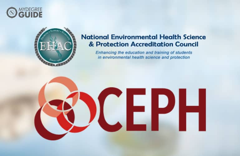 logos of accrediting boards for health science programs