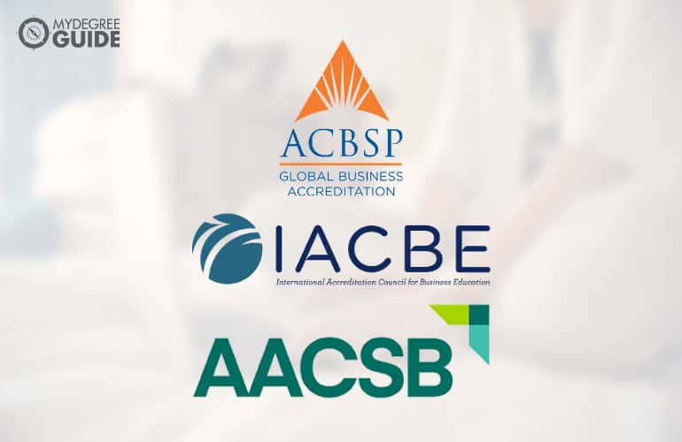 logos of the business school accreditation boards