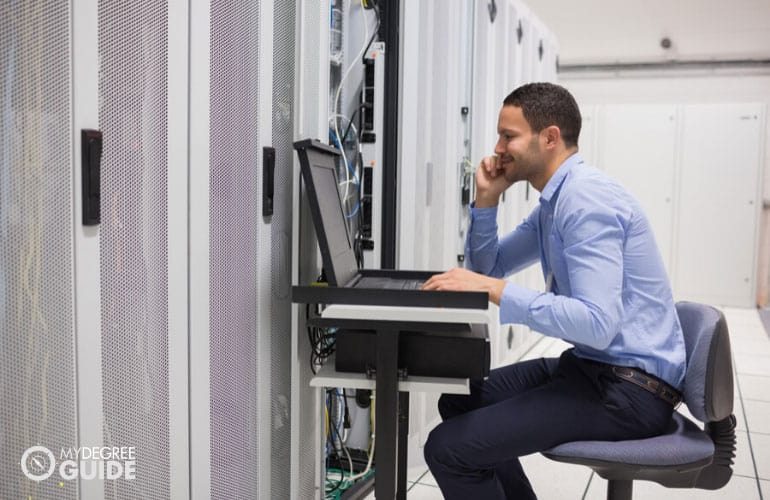 database manager maintaining the servers in data center