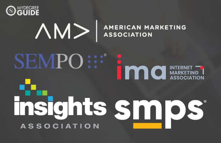 logos of Professional Organizations for Those with a Master's in Marketing Degree