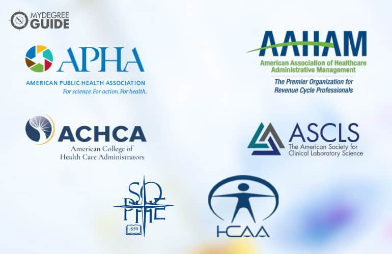 logos of Professional Organizations for Those with a Health Science Degree