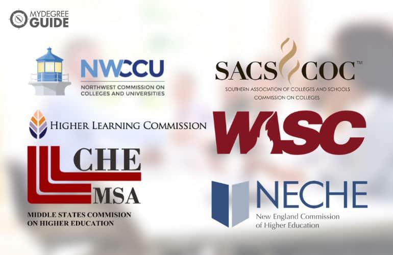 logos of six regional accreditation boards