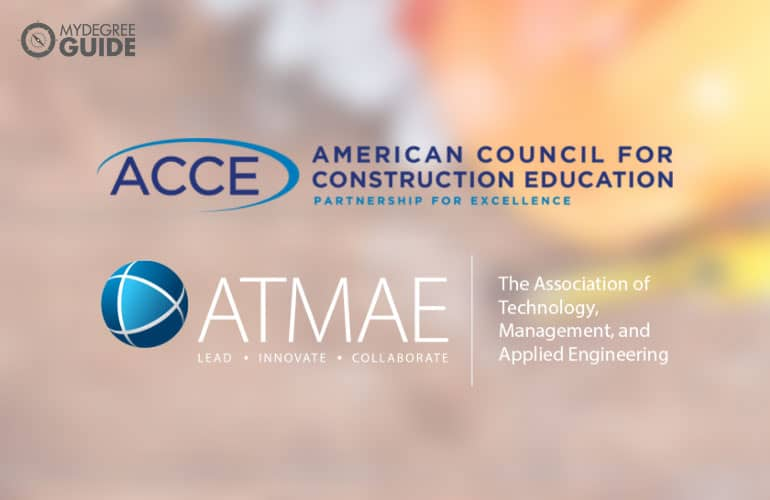 logos of American Council for Construction Education and Association of Technology, Management, and Applied Engineering