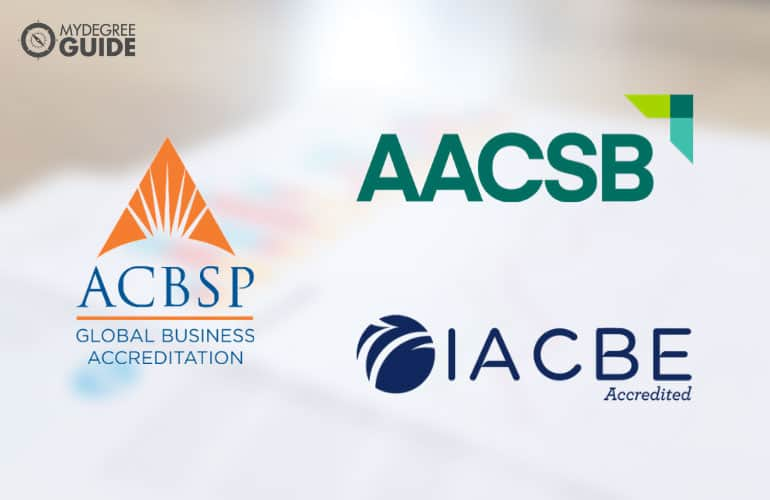 logos of three business school accreditors