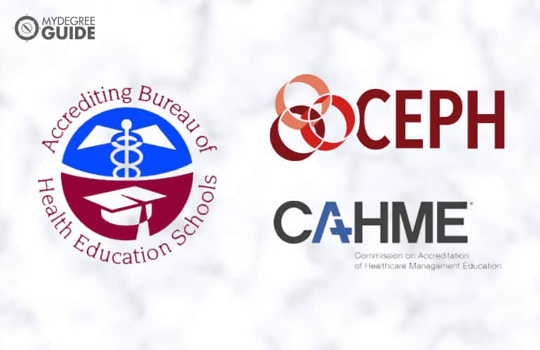 logos of accreditation board for Online Degrees in Healthcare