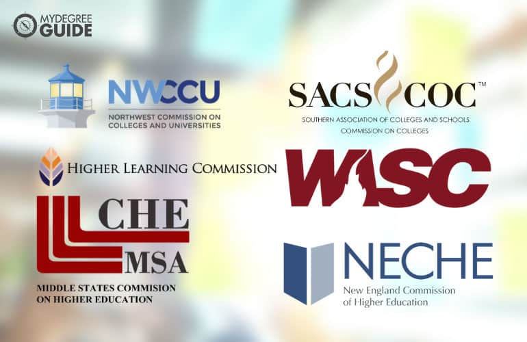 logos of six regional accrediting boards