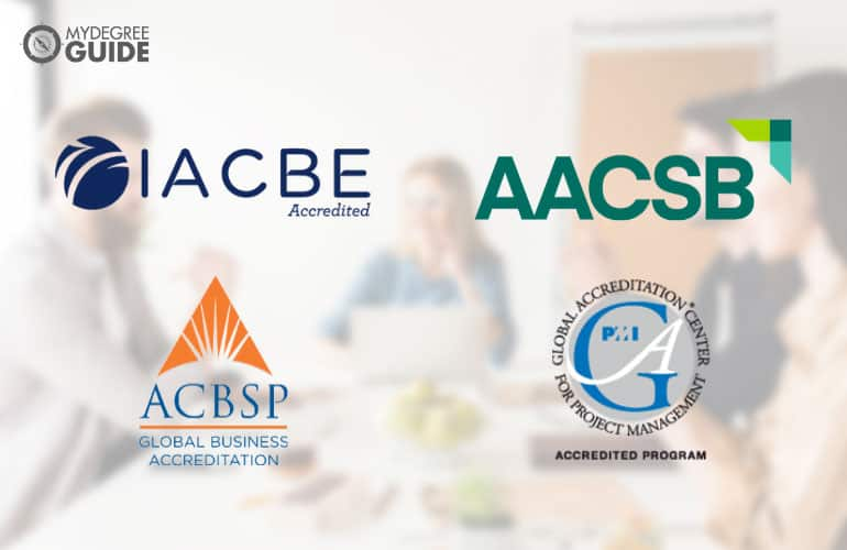 logos of accreditation boards for Project Management Degree Online