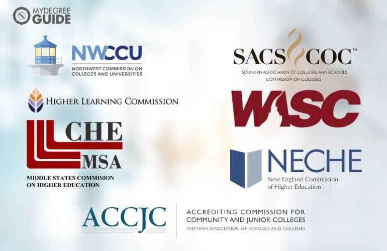 logos of seven regional accreditation boards