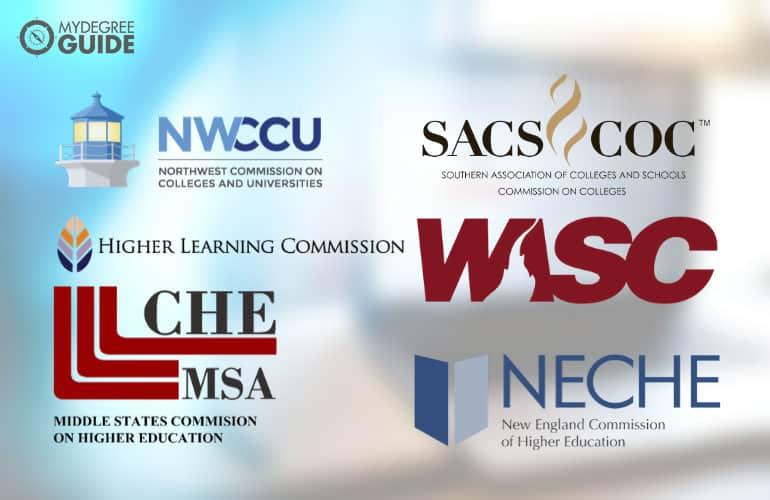 logos of six regional accreditors