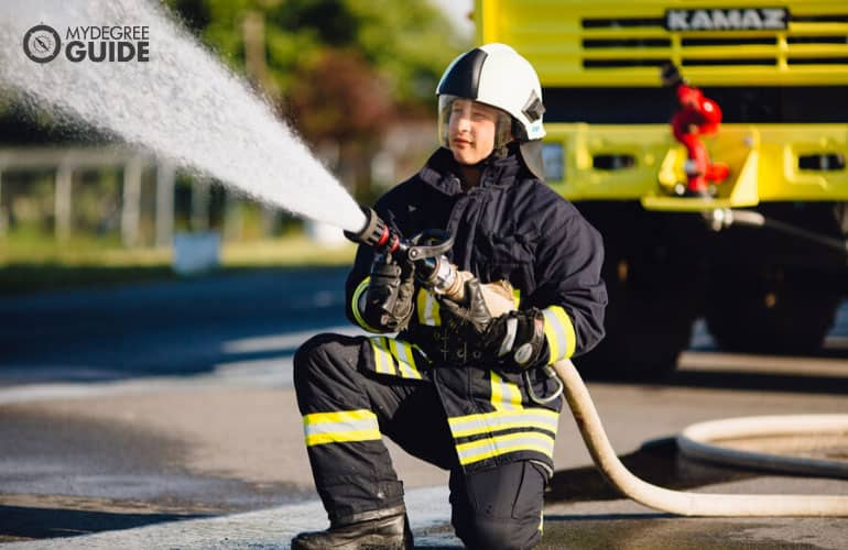 firefighter on training