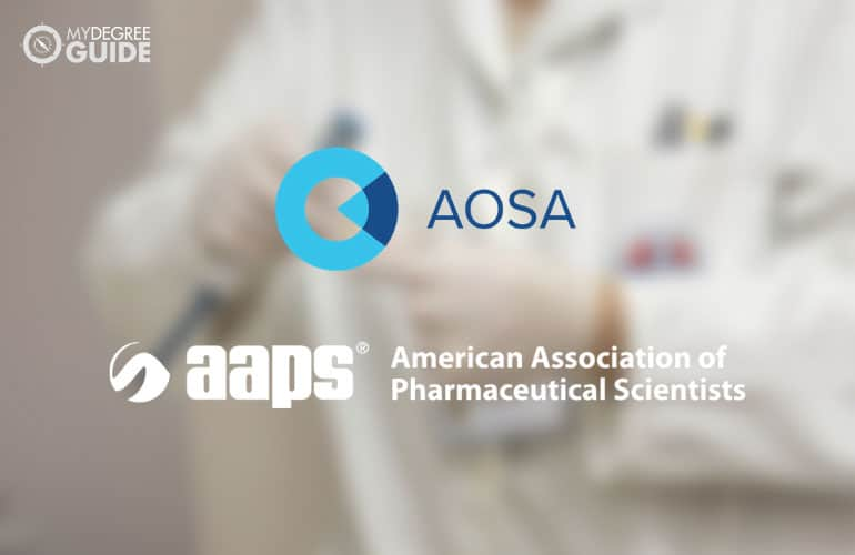 logos of American Association of Pharmaceutical Scientists and American Optometric Student Association