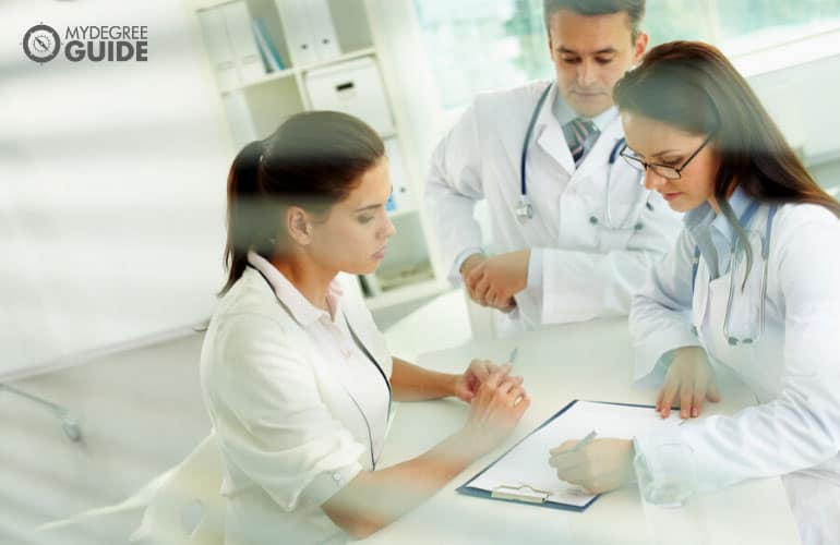 health service managers in a meeting