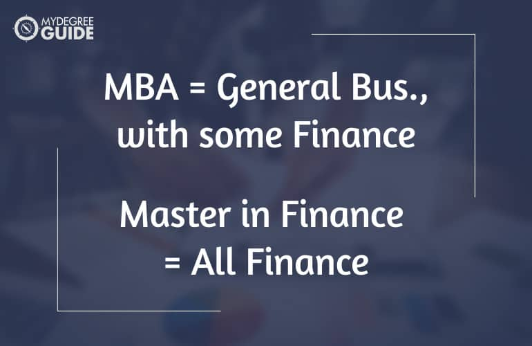 Masters in Finance vs MBA