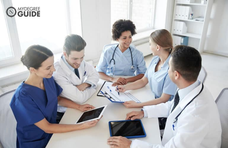 healthcare professionals having a meeting