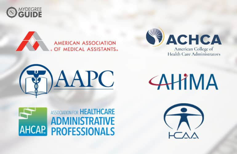 logos of Professional Organizations for Those with an Associates Degree in Healthcare Management