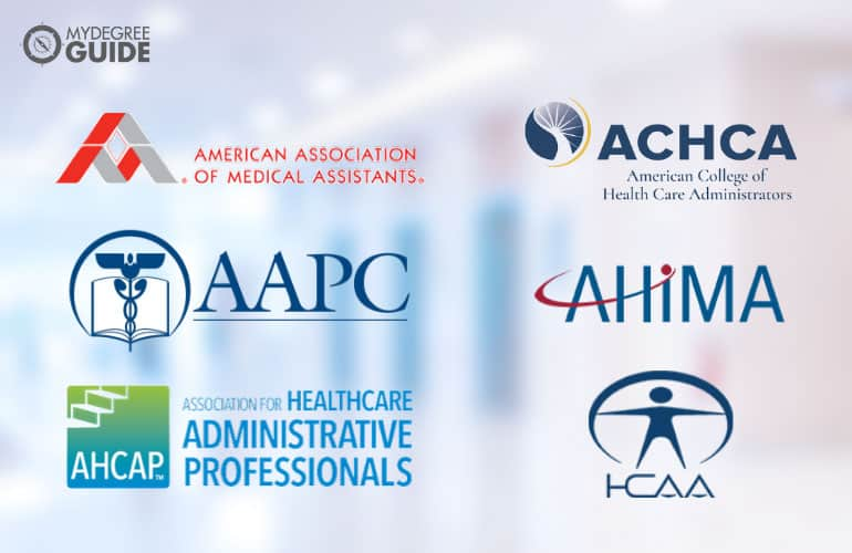 logos of Professional Organizations for Those with an Associates Online Healthcare Degrees
