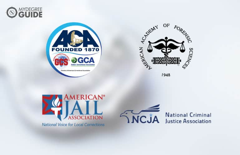 logos of Professional Organizations for Those with a Criminal Justice Degree