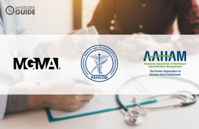 logos of Professional Organizations for Those with a Degree in Healthcare Administration