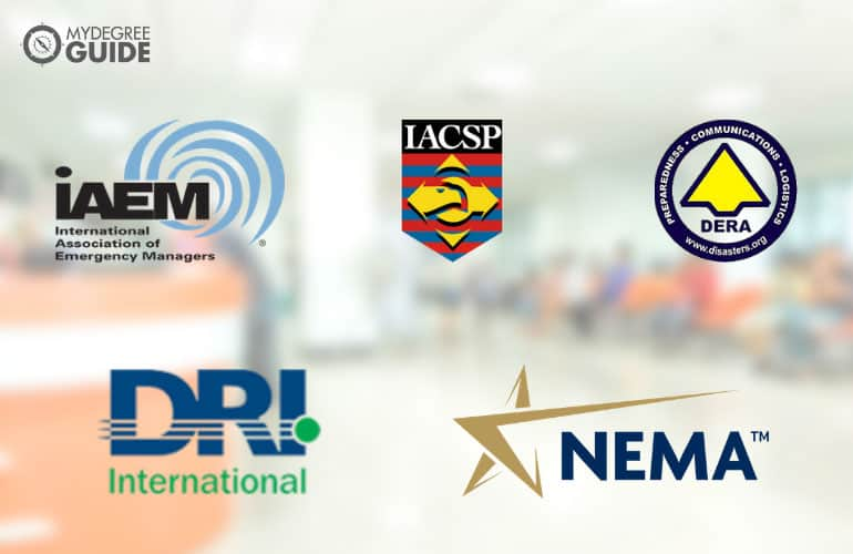 logos of Professional Organizations for Those with an Emergency Management Degree