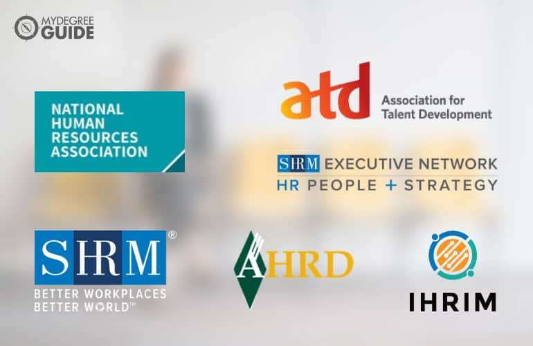 logos of Professional Organizations for Those with an HR Doctorate Degree