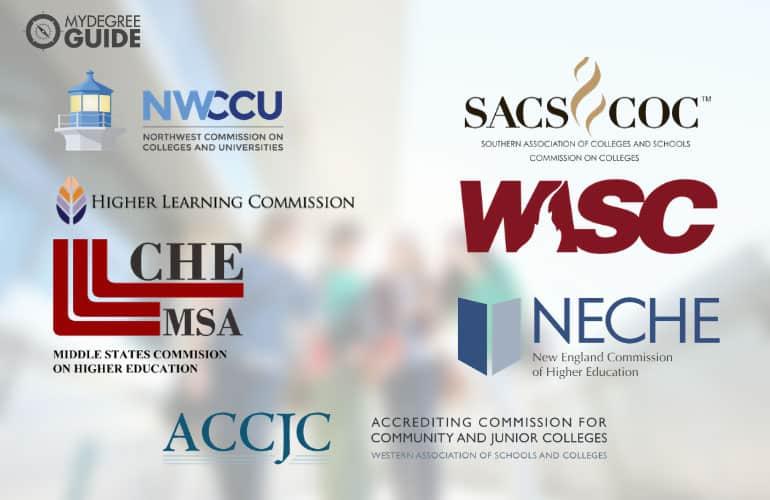 logos of seven regional accreditors